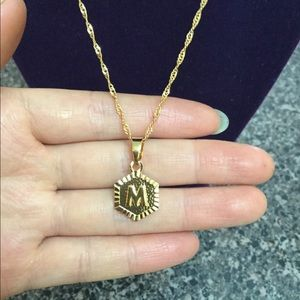 """Jewelry - New 18K gold """" M """" letter necklace"""